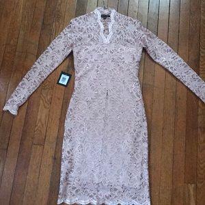 Marina long sleeve sequin lace dress